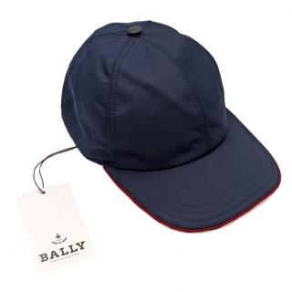 Bally Navy Cotton Cap