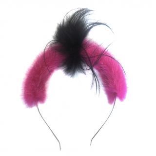 Fendi Mink & Fox Fur Head Band
