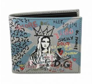 Dolce & Gabbana Graffiti Sicily Print Maria Bi-Fold Wallet