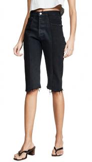 E.L.V Black The Twin Denim Shorts