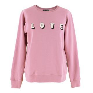 Love Stories Teddy printed cotton-fleece sweatshirt