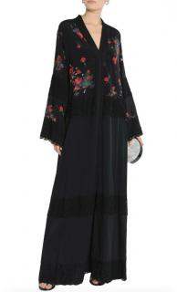 Dolce & Gabbana Floral Silk Printed Lace Panelled Kimono Dress
