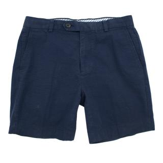 Brooks Brothers Blue Seersucker Shorts