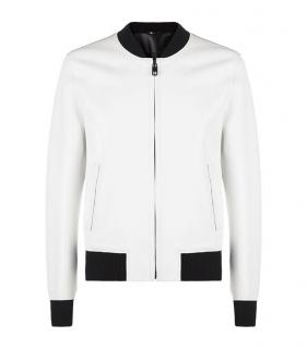 Dolce & Gabbana Men's White Leather Jacket