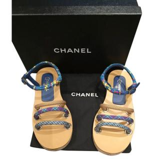 Chanel Bungee Cord Strap Flat Sandals