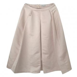 Mira Mikati Pink Satin Midi Skirt