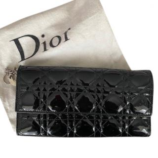 Dior Patent Lady Dior Wallet on Chain