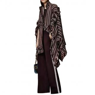 Burberry Prorsum Knit Wool Cape Poncho