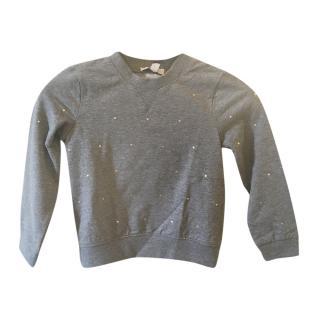 Stella McCartney Grey Crystal Studded Sweatshirt