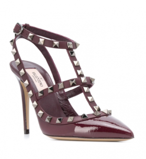 Valentino Garavani Burgundy Slingback Sandals