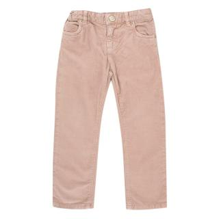 Bonpoint 3Y Pink Corduroy Trousers