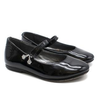 Bonpoint Black Patent Mary Jane Shoes