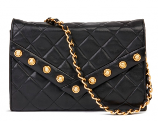 Chanel crystal studded vintage envelope shoulder bag