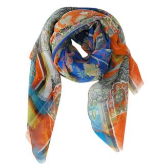 Etro patterned silk scarf