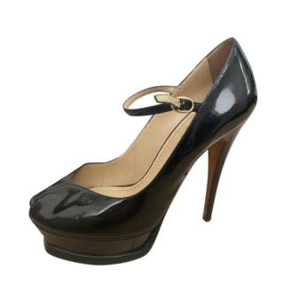 YSL classic black patent Mary Jane pumps