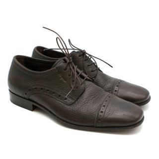 Salvatore Ferragamo Brown Leather Brogues