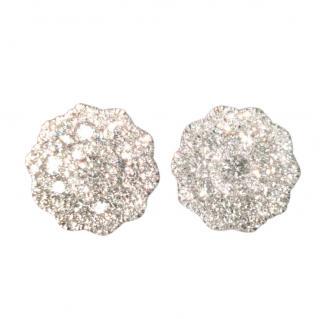 Cred dimsond floral cluster stud earrings