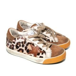 Golden Goose Kids Supersar Leopard Print Trainers