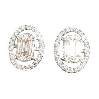 Cred diamond cluster earrings