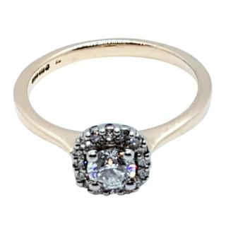 Cred Bespoke Diamond Ring in Yellow Gold
