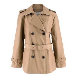Coach Tan Short Trench Coat