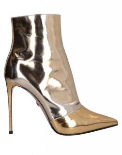 Le Silla Metallic Mirrored Ankle Boots