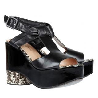 Robert Clegerie Black Drolos Wedge Sandals