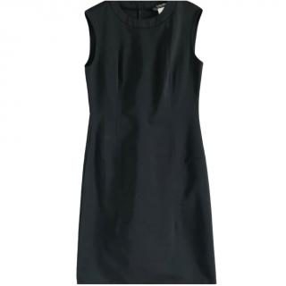 Max Mara Black Sleeveless Round Neck Dress