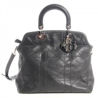 Dior Grey Leather Python Lined Granville Tote Bag