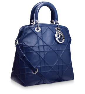 Dior Blue Smooth Cannage Leather Granville Tote Bag