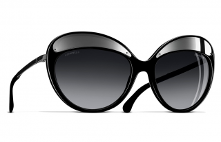 Chanel Black Oversize 5379 Sunglasses