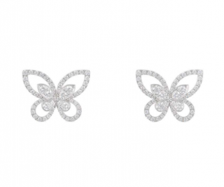 Graff Diamond Earrings in White Gold