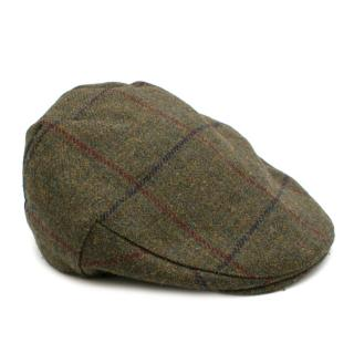 Christys' London Green Tweed Balmoral Flat Cap