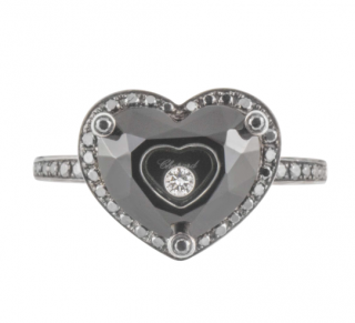 Chopard White Gold Happy Diamonds Ring