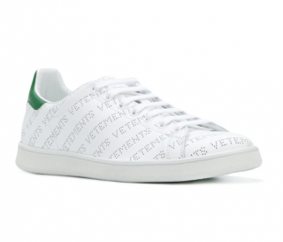 Vetements Low-top perforated-leather trainers