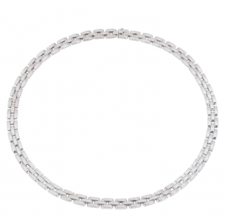 Cartier White Gold Flat Link Necklace
