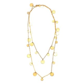 Ashiana Gold Plated Multi Coin Pendant Necklace