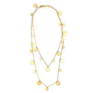 Ashiana Gold Plated Multi Coin Pendant Necklace