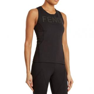 Fendi Logo-print performance tank top