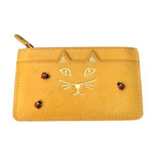 Charlotte Olympia Yellow Ladybug Card Holder