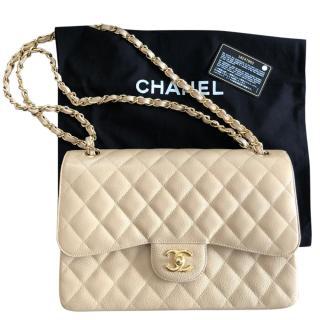 Chanel Beige Clair Classic Double Flap Bag