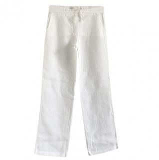 Joseph White Linen Pants