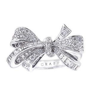 Graff Diamond Fluid Bow Motif White Gold Ring