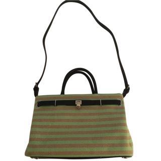 Asrey Striped Canvas Shoulder Bag