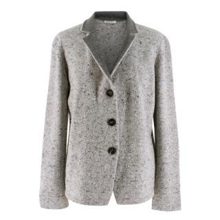 Lamberto Losani Grey Wool Cardigan