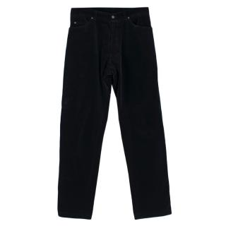 William Hunt Black Velvet Trousers