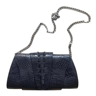 Harvey Nichols Bespoke Alligator Black Shoulder Bag