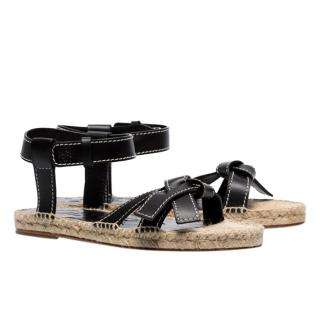 Loewe black Gate knotted leather sandals