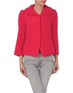 Marni Red Silk Blend Hooded Jacket