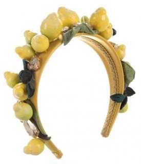 Dolce & Gabbana Embellished Lemon Headband